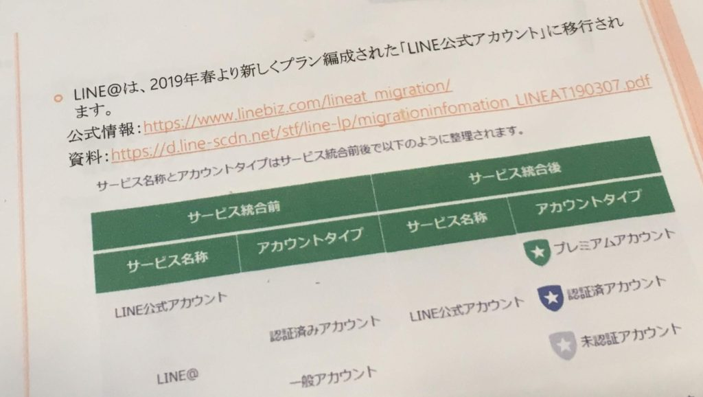 LINE@の移行
