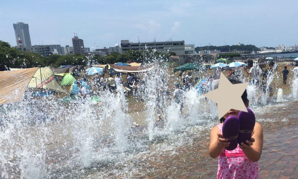 うみかぜ公園の噴水広場