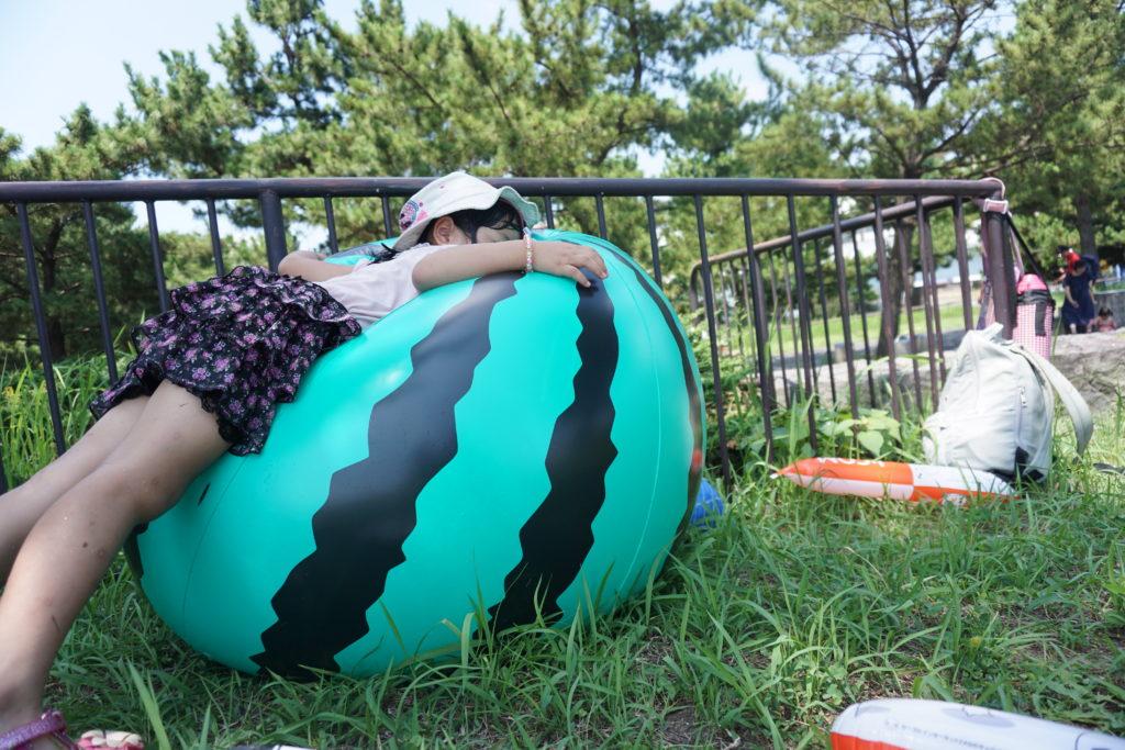 もらった巨大ビーチボール