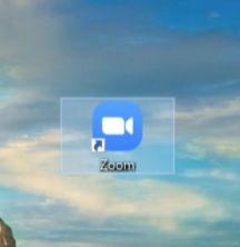 デスクトップにzoomアプリ