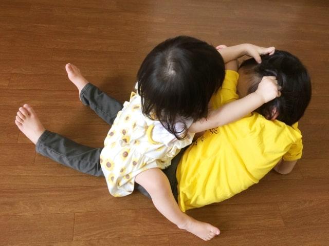 下の子が小さいときの兄弟げんかの対応策