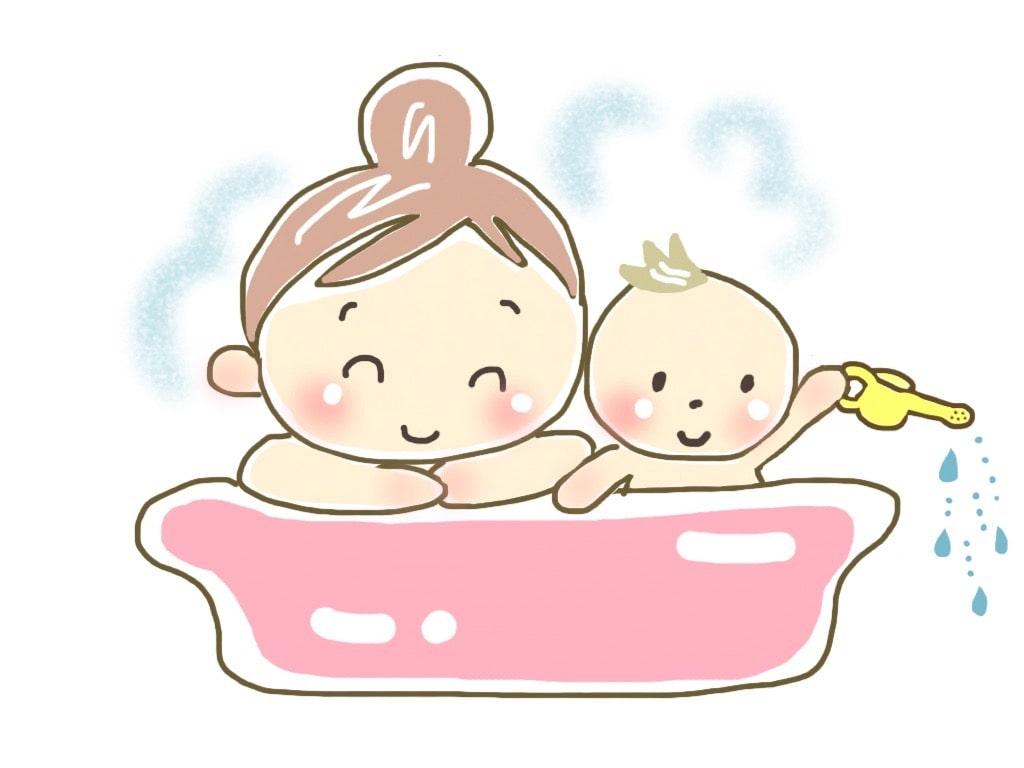 たっちの時期のお風呂