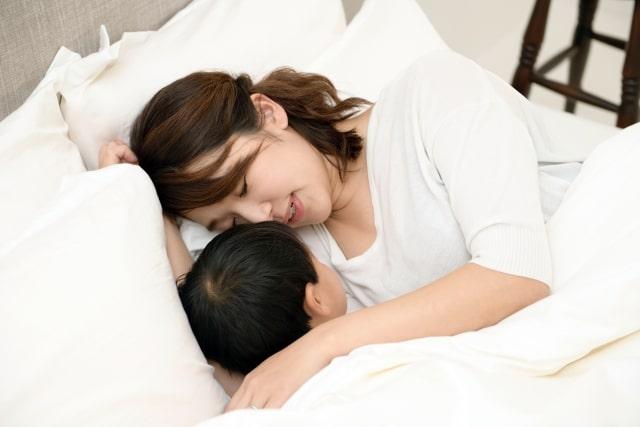 親も一緒に寝落ち