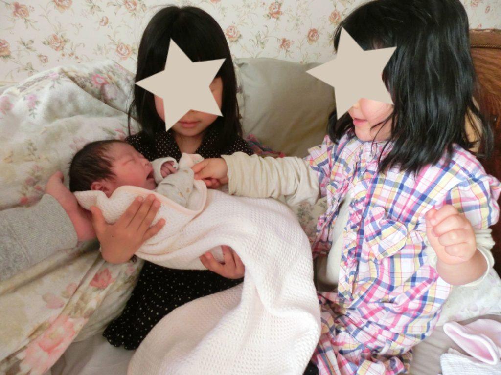 三女誕生時の赤ちゃん返り