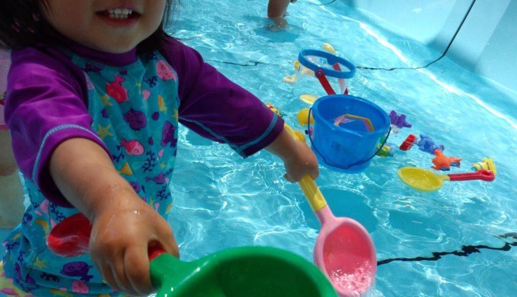 保育園のプール開放