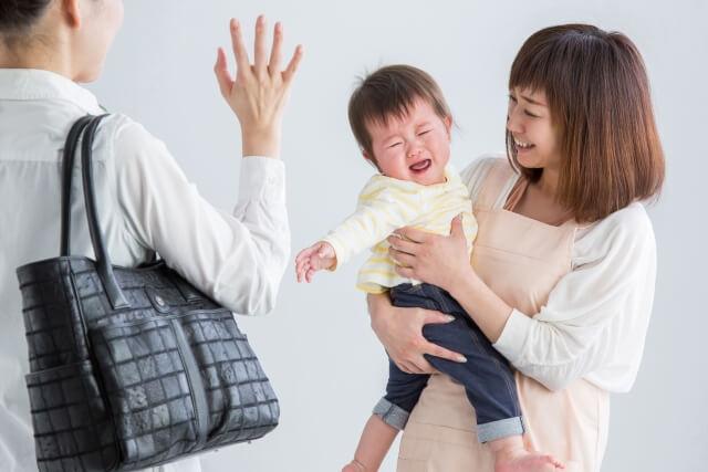 一時保育で子供が泣く
